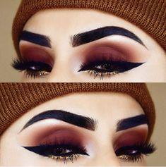 35 Red Eye Makeup Looks Beautiful for Women /. - 35 Red Eye Makeup Looks Beautiful for Women /. Eye Makeup Glitter, Red Eye Makeup, Cute Makeup, Gorgeous Makeup, Pretty Makeup, Skin Makeup, Eyeshadow Makeup, Gold Eyeshadow, Glitter Eyebrows
