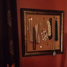 I did this but I used ceiling tile in an old frame instead of cork board. It is easy and fun