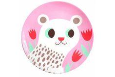 Tigerlillyquinn | Helen Dardik melamine plate polar bear pink