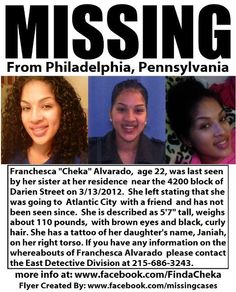 Have you seen her? Missing from Philadelphia, Pennsylvania.