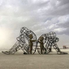Alexander MILOV - Love - Burning Man - 2015. A structure  59 feet long,18 feet…