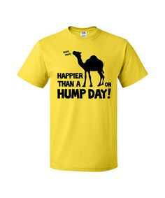 Iconic advertising hits pop culture gold in a piece that celebrates Hump Day in style. Made of soft cotton for ultimate comfort, this tee delivers a whole humpful of midweek laughs.