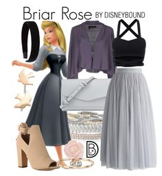 """Briar Rose"" by leslieakay ❤ liked on Polyvore featuring Stella & Dot, Olive Yew, Manila Grace, Vera Bradley, Chicwish, L. Erickson, LC Lauren Conrad, disney, disneybound and disneycharacter"