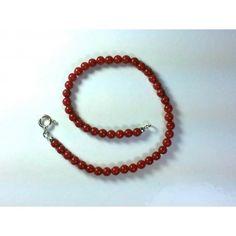 Bracciale pallini corallo rosso e argento 925