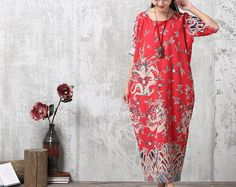 Loose Fitting Long Maxi Dress, Gown, Women Dress, Maternity Clothing