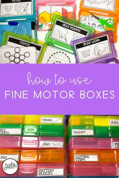 How to Use Fine Motor Boxes