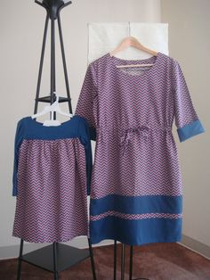 Matching mother & daughter dresses