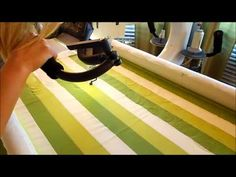 Free Motion Quilting Feather Swirl Tutorial--gorgeous, whimsical quilting by Green Fairy