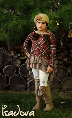 Girl's hi-low plaid tunic by ISADORAKIDS on Etsy
