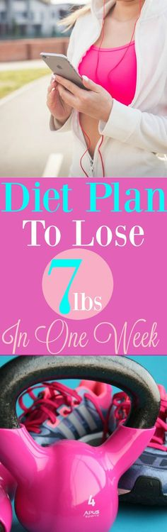Diet Plan To Lose 7 Pounds in 7 Days with or without exercise. #Weightloss