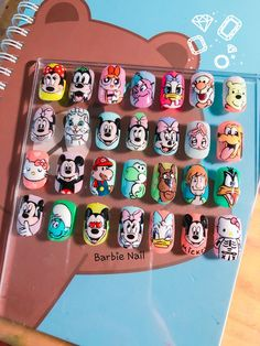 Disney Acrylic Nails, Summer Acrylic Nails, Cute Acrylic Nails, Cute Nails, Disney Nail Designs, Cute Acrylic Nail Designs, Diy Nails, Swag Nails, Mickey Nails