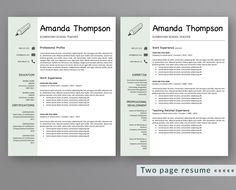 Professional Reference Sheet Template Beauteous Professional Minimalist Resume Template Cv Template Printable .