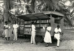 Gold Coast (now Ghana) Libraries bookmobile.