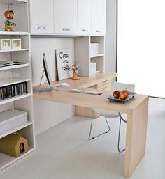 Wooden Color Mac Desk for Teenager Room