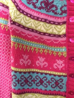 fair isle girls cardigan, detail / design marieke walstra