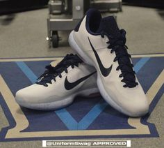 best website d7fe7 fe911 First look at the Nike Kobe 10 Villanova PE, created for the Wildcats as  they prepare for a Tourney run. White textile collides with contrast navy .