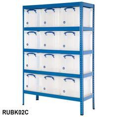 Industrial Bay With 12 Really Useful Boxes - Industrial Shelving from BiGDUG UK
