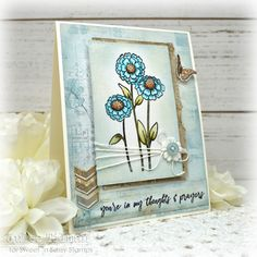 Handmade card by Julee Tilman featuring stamps from Sweet 'n Sassy Stamps. #handmadecards #stamper Prayer Photos, Encouraging Thoughts, Distress Oxides, Some Cards, Petunias, Paper Size, I Card, Stampin Up, Prayers
