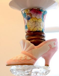 shoes and tea cups