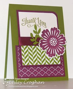 Stamps: Mixed Bunch, Perfectly Penned  Inks: Rich Razzleberry and Old Olive  Papers: Summer Smooches, Old Olive, White, Razzleberry  Tools: Bird Punch, Blossoms Punch  Extras: Razzleberry Satin ribbon