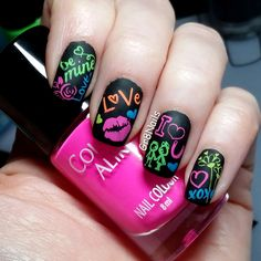 "Colour Alike ""Neon Collection"" nail stamping polish."