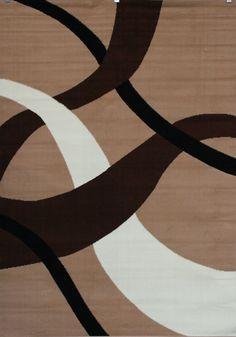 Allen Roth Addington Brown Rectangular Indoor Woven Area
