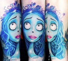 Tim Burton would be proud of this Corpse Bride tattoo. Tattoo by Ellen Westholm - InkedMagazine