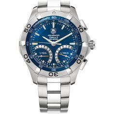 TAG Heuer Aquaracer Calibre S 1/100TH 43 mm Blue Steel bracelet.