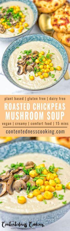 roasted chickpea mushroom soup. Looks SO good!