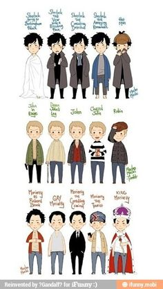 BBC sherlock (c) mofftiss thank you so much for all the comments and favs! lots of sherlock, john, and jim Sherlock Fandom, Sherlock John, Sherlock Holmes, Fan Art Sherlock, Jim Moriarty, Funny Sherlock, Johnlock, Martin Freeman, Doctor Who