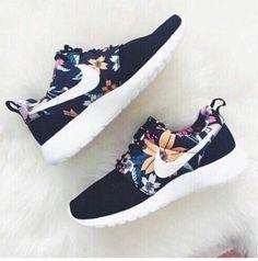 NIKE Women Men Running Sport Casual Shoes Sneakers Flower