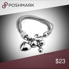 🛍SALE🛍 Mesh bracelet with charms Get into glam jewelry that puts a little kick - or lots of sway - in to your favorite fashions. GENUINE stainless steel and will last for looooooong time!                                            Stainless steel Mesh tube                                        Lobster claw clasp Imported.                                                                Polished stainless steel charms!!!! Bef. $26 Jewelry Bracelets