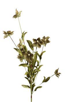 flower spray -- green burlap #vyninc #burlap #floral  http://www.vynflowers.com/category/burlap/burlap-NEW
