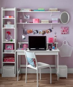 You won't mind getting work done with a home office like one of these. See these 20 inspiring photos for the best decorating and office design ideas for your home office, office furniture, home office ideas Home Office Space, Home Office Design, Home Office Decor, Home Decor, Office Table, Office Ideas, Office Spaces, Work Spaces, Study Room Decor