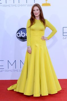 Emmy Awards 2012: Julianne Moore's citron-hued Christian Dior Couture gown took our breath away.  #Emmys
