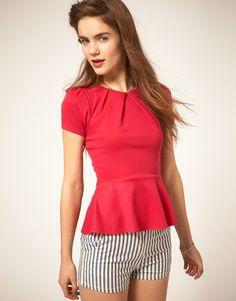 Love this peplum shirt