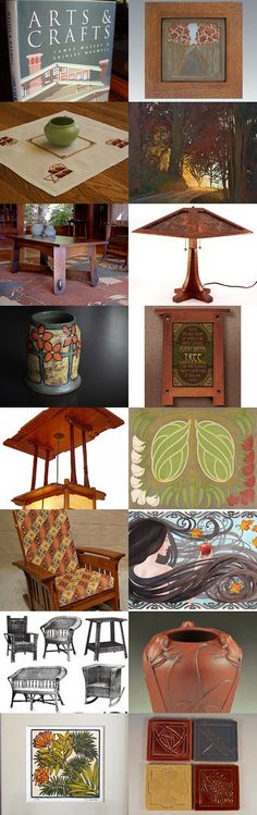 Arts and Crafts Movement by allan elliott on Etsy--Pinned with TreasuryPin.com | Fay Jones Day | Jan Schmuckal | JW Art Pottery | Mission Style | Craftsman | Bungalow