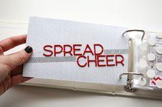 Ali Edwards 4x6 December Daily 2012 - spread cheer