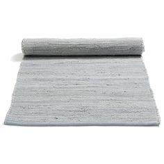Cotton Rug 170x240, Grey $166. - RoyalDesign.com