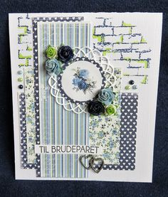 Karon Beach, Blue And Green, Southern Girls, Fun Challenges, More Than Words, Green Wedding, I Card, Wedding Cards, Paper Crafts