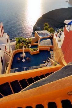 Colours + Steps in Fira, Santorini