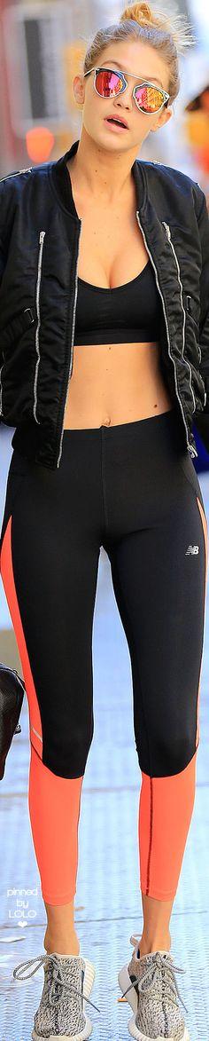 Gigi Hadid Workout Street Chic | LOLO❤