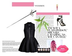 """""""Fight Me"""" by fashionsev ❤ liked on Polyvore featuring Christian Louboutin, Jimmy Choo and Lime Crime"""