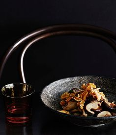 Recipe for Chinese mushrooms with warrigal greens and Jerusalem artichokes by Victor Liong from Melbourne restaurant Lee Ho Fook. Chinese Mushrooms, Roasted Mushrooms, Stuffed Mushrooms, Herb Recipes, Vegetable Recipes, Whole Food Recipes, Wine Appetizers, Key Food, Native Foods