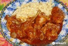 Vörösboros nyúlpörkölt Hungarian Recipes, Dishes, Chicken, Food, Tablewares, Essen, Meals, Yemek, Dish