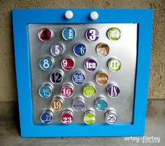 artsy-fartsy mama: DIY Magnetic Advent Calendar