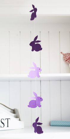 Bunny garland! Kind of skipped over the Easter decorating this year... maybe next year.