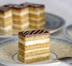 Mézes krémes Hungarian Recipes, Christmas Is Coming, Vanilla Cake, Nutella, Chocolate Cake, Tiramisu, Paleo, Food And Drink, Sweets
