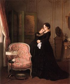 Auguste Toulmouche (September 1829 - October was a French painter. He studied with Charles Gleyre and is known mainly for his portraits of Pari. Victorian Paintings, Victorian Art, Victorian Ladies, Charles Gleyre, Art Ancien, Auguste, Classical Art, French Artists, Art Plastique