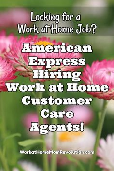 Work at Home with American Express Customer Care